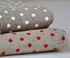 polka dot linen