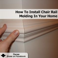 How To Install Chair Rail Molding In Your Home - http://www.hometipsworld.com/how-to-install-chair-rail-molding-in-your-home.html