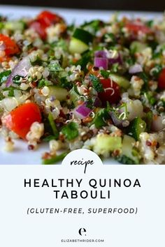 this delicious Quinoa Tabouli With Parsley & Mint recipe for an upcoming summer BBQ kids birthday party or even a romantic evening for two! It is an excellent source of magnesium iron and dietary fiber and can be used in both savory and sweet dishes. Mint Recipes, Lunch Recipes, Gourmet Recipes, Vegan Recipes, Dinner Recipes, Cooking Recipes, Cheap Recipes, Free Recipes, Mint Salad