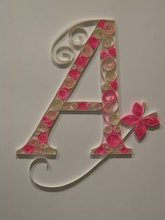 d62cd1149b346c8cb6c0db2235ff2e68 Quilling Letter Template D on