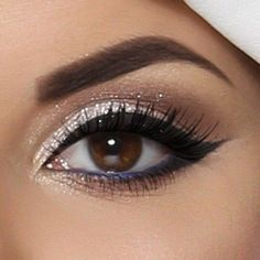 Festive Eyes Makeup For New Year's Eve Party More ❤ liked on Polyvore featuring beauty products, makeup, eye makeup and eyes