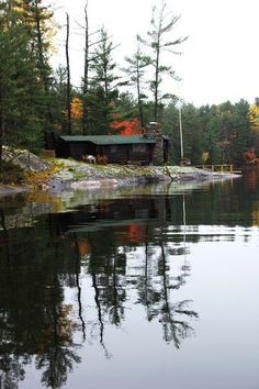 "Check out my art piece ""Cabin On The Rocks"" on crated.com #art #photography #fall #autumn #cabin"