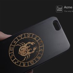 New Thin Fashion Luxury wood Phone Cases For iphone 5 5s 6 6s 7 7plus Caes 12 Zodiac Patterns Designs Romantic wooden cover