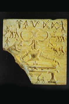 Pasupati Seal, C. 2500-2400 BC Mohenjodaro | This seal with anthropomorphic form of ithyphallic Shiva is one of the most significant Indus finds attesting the prevalence of Shiva-cult, his personalized Mahayogi or Pashupati form as also his aniconic 'ling' form, as early as Indus days and much before the emergence of Vedic cult. The discovery of the large number of seals leads some scholars to conclude that seals-cutting was one of the major industries of Harappan settlements.