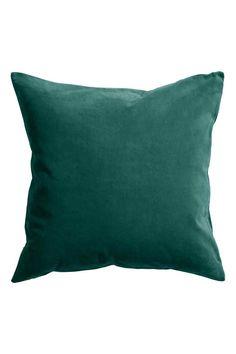 Aksamitna poszewka na poduszkę: Poszewka na poduszkę z bawełnianego aksamitu. Kryty suwak u dołu.