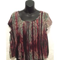 Sheer Maroon and Gray Top Wear this casual yet chic sheer top on date night or happy hour! In great condition. Charlotte Russe Tops