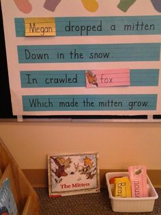 The Mitten story extension interactive chart and chant. #kindergarten