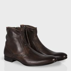 Paul Smith Men's Shoes | Brown Leather Lenny Boots