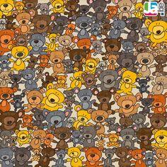 welke knuffel zit er tussen de teddyberen Hidden Pictures, Cool Pictures, Esl Learning, Can You Find It, Wheres Wally, Hidden Objects, Right Brain, Adhd Kids, Preschool Worksheets