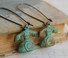 Vintage Telephone Earrings Green Call Me Maybe by redtruckdesigns