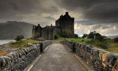 Scottish Highlands | Eilean Donan Castle Clouds Bridge Loch Duich Scottish Highlands