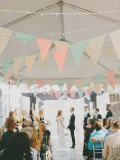 pastell wimpel - wedding decoration