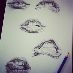 I have an obsession with drawing eyes and lips, so I had to pin it.
