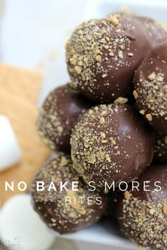 No Bake S'mores Bites - since they are no-bake, these bites are perfect for making with kids in the summer.
