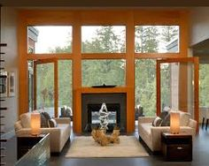 Image result for see through fireplace