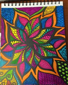 ColorIt Colorful Flowers Volume 1 Colorist: Lisa Lifton Lubrano #adultcoloring #coloringforadults #adultcoloringpages #doodle