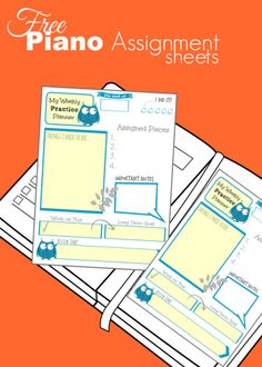 A Printable To Add Some Pizzazz to Your Piano Lesson Assignment Binders | Teach Piano Today