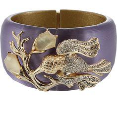 ALEXIS BITTAR Large Ophelia Hummingbird Bracelet ($475) ❤ liked on Polyvore