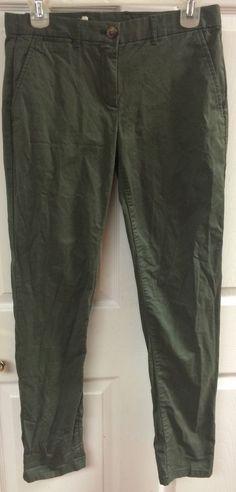 Khakis By GAP Broken In Straight Army Green Pants Skinny Jeans Size 0 Women's #GAP #KhakisChinos