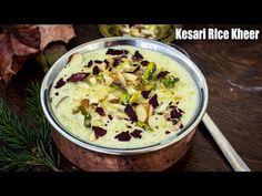 Kesari Rice Kheer - Saffron Rose flavoured Rice Pudding