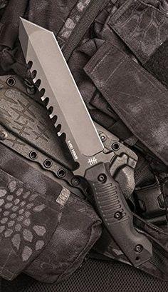 Hardcore Hardware Australia BFK01-GII Generation 2 Tactical Fixed Survival Knife Blade Black G-10 Handle Black Teflon Blade