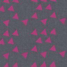 Batiste grise triangles fuchsia France Duval Stalla, graphique pour une aubépine...