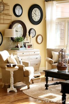 about decorating with clocks on pinterest clock wall of clocks