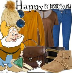Snow white and the 7 dwarfs Happy inspired fashion