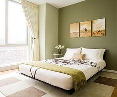 Hoy nos vamos a centrar en habitaciones para adultos en tonos  verdes.