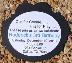 40 Cookie Monster Invitations Cookie Monster Party by HelloFaith, $62.50