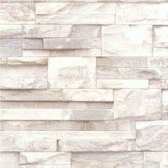 NEW LUXURY MURIVA SLATE STONE BRICK WALL EFFECT TEXTURED VINYL WALLPAPER BEIGE J27407: Amazon.co.uk: Kitchen & Home