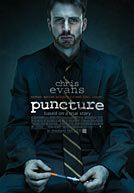 Puncture...Based on a true story.  About a nurse who gets accidentally hit by a needle and gets AIDS.  2 lawyers try to change the healthcare system and get them to use needles that retract and can only be used once.  One lawyer taking the case has a drug addiction.  Movie was pretty good.