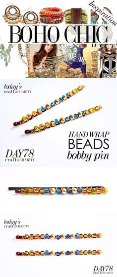 Day 78 - Hand Wrap BOHO CHIC beads bobby pins