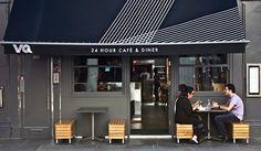 Awning signage/design: VQ Cafe Design Moody