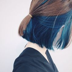 Now dyeing hair has become a fashion trend. If you haven't dyed hair a few times and haven't dyed a. Hidden Hair Color, Cool Hair Color, Diy Hair Dye, Dye My Hair, Diy Hairstyles, Pretty Hairstyles, Diy Haarfärbemittel, Aesthetic Hair, Hair Day