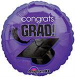 Purple Graduation Balloon