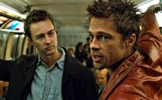 """""""Fight Club"""" is a 1999 film based on the 1996 novel of the same name by Chuck Palahniuk. If you haven't seen the movie, stop now. If you have seen the movie, you know it's not about a """"fight club."""" """"Fight Club's"""" violence was intended to serve as… Fight Club Brad Pitt, Fight Club 1999, Fight Club Marla, Chuck Palahniuk, David Fincher, Tyler Durden, Donnie Darko, Helena Bonham Carter, Matthew Mcconaughey"""