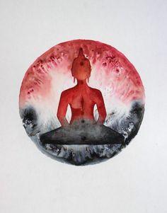 seated buddha art