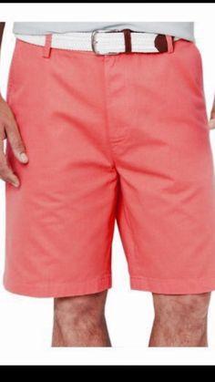 Nautica Classic Fit Coral (Pink) Men's Big And Tall Khaki Shorts Size 60 New! #Nautica #Classic