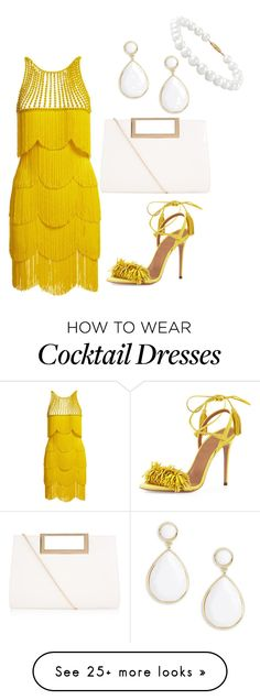 """Untitled #185"" by justaddgigi on Polyvore featuring Naeem Khan, Aquazzura, New Look, Trina Turk and Belk & Co."