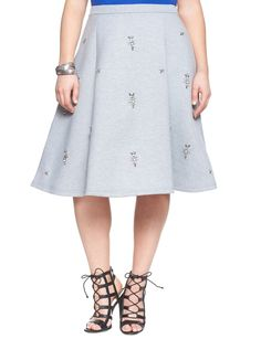 Blingful Skirt Grey