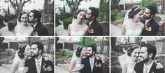 Bride and groom collage.