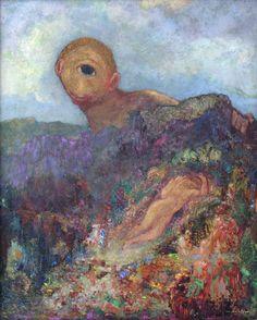 Zyklop, 1914, by Odilon Redon
