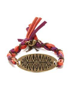 Aztec Motif Oval Station Bracelet by Ettika Jewelry at Gilt