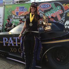 Alexis DeJoria & Team XO Cafe Patron wins the Car Quest Funny Car Finals 2/23/14