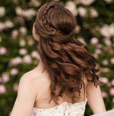 Frauen romantische Haare Zopf flechten Frisur