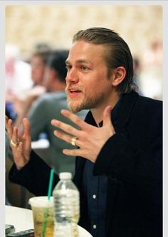 Charlie hunnam. I love how he talks with his hands