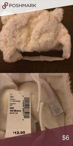 b9115965a1da NWT Children s Place White Faux Fur winter hat Adorable NWT faux fur little  girl hat with