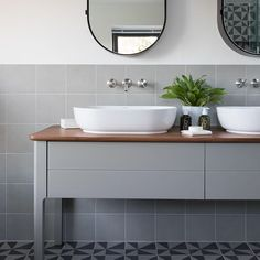 Idyllic weekend relaxation doesn't get any better than a beautiful bathroom. Vanity units with in-built storage make for a calming, clutter-free bathroom environment. Bathroom Vanity Units, Bathroom Layout, Bathroom Furniture, Bathroom Interior, Modern Bathroom, Vanity Mirrors, Boho Bathroom, Mirror Bathroom, Bathroom Trends