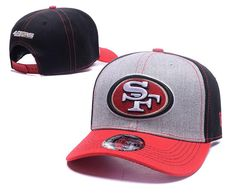 Men s   Women s SSan Francisco 49ers NFL Spirited Lightly Structured Baseball  Hat - Grey   Black fe77652ce